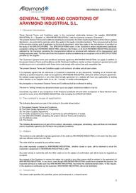 General terms & conditions of ARaymond Industrial (EN)