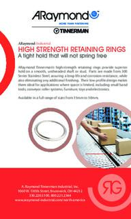 High strength retaining rings
